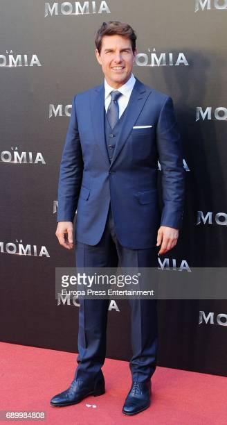 Tom Cruise attends the premiere for 'The Mummy' at Callao Cinema on May 29 2017 in Madrid Spain
