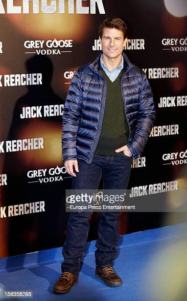 Tom Cruise attends the premiere of 'Jack Reacher' on December 13 2012 in Madrid Spain