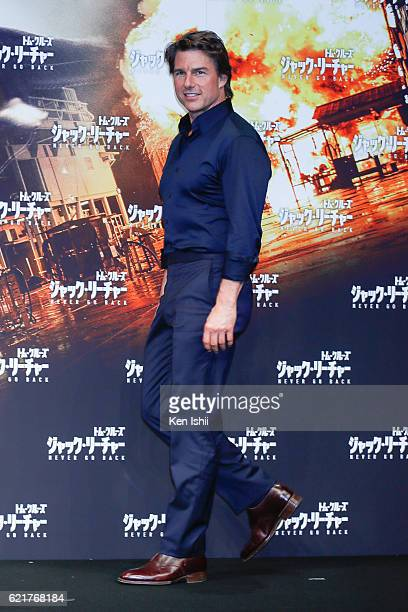 Tom Cruise attends the press conference and photocall of the Paramount Pictures' 'Jack Reacher Never Go Back' ahead of the Tokyo Premiere on November...