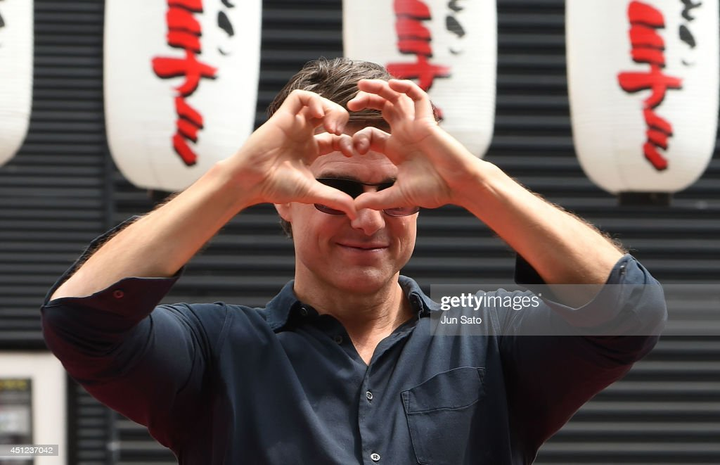 Tom Cruise attends the promotional event for 'Edge of Tomorrow' at the Dotonbori Riverside on June 26, 2014 in Osaka, Japan.