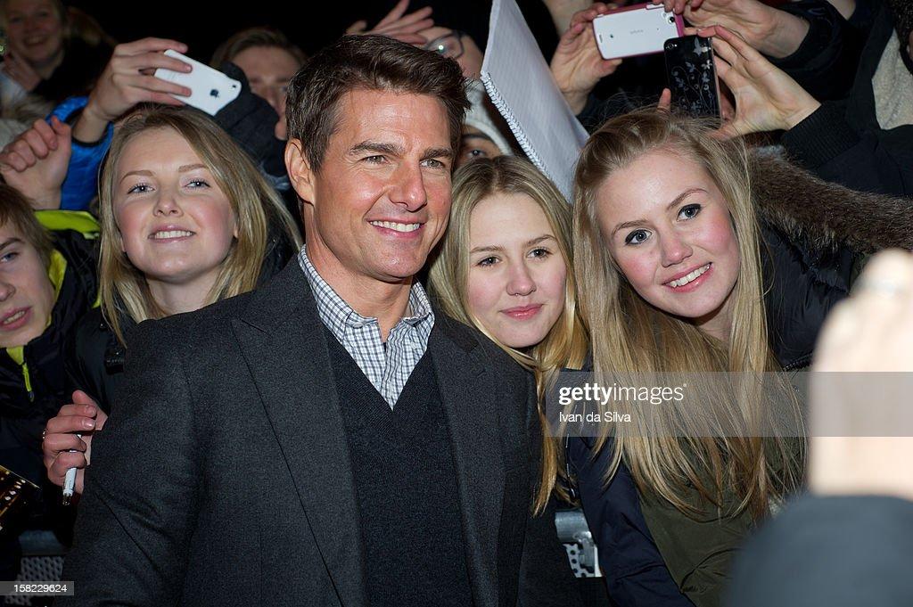 Tom Cruise attends the Swedish Premiere of 'Jack Reacher' at Multiplex Sergel on December 11, 2012 in Stockholm, Sweden.