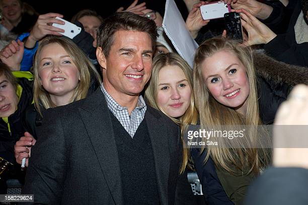 Tom Cruise attends the Swedish Premiere of 'Jack Reacher' at Multiplex Sergel on December 11 2012 in Stockholm Sweden