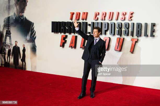 Tom Cruise attends the UK Premiere of Mission Impossible Fallout at BFI IMAX on July 13 2018 in London England
