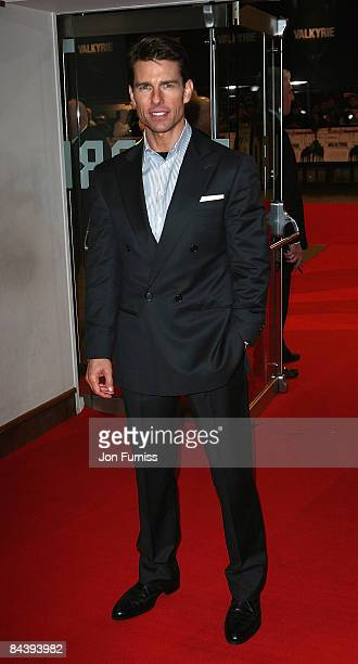 Tom Cruise attends the UK premiere of 'Valkyrie' at Odeon Leicester Square on January 21 2009 in London England