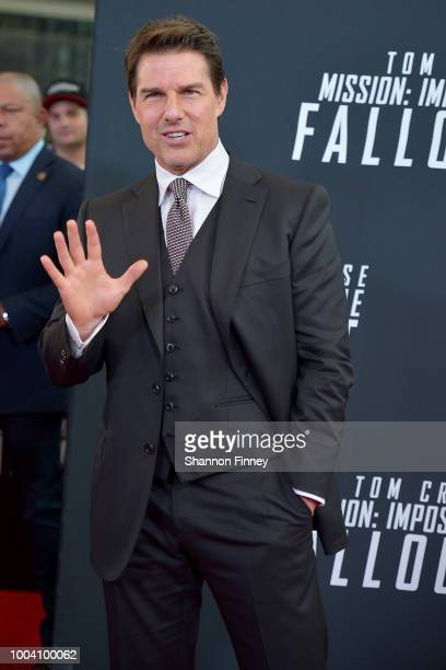 Tom Cruise attends the US Premiere of Mission Impossible Fallout at Smithsonian's National Air and Space Museum on July 22 2018 in Washington DC