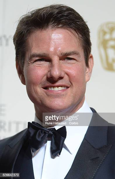Tom Cruise attends the Winner's Room at EE British Academy Film Awards at the Royal Opera House