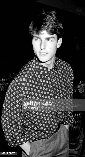 Tom Cruise attends 'Top Gun' Premiere Party on May 12 1986 at America in New York City