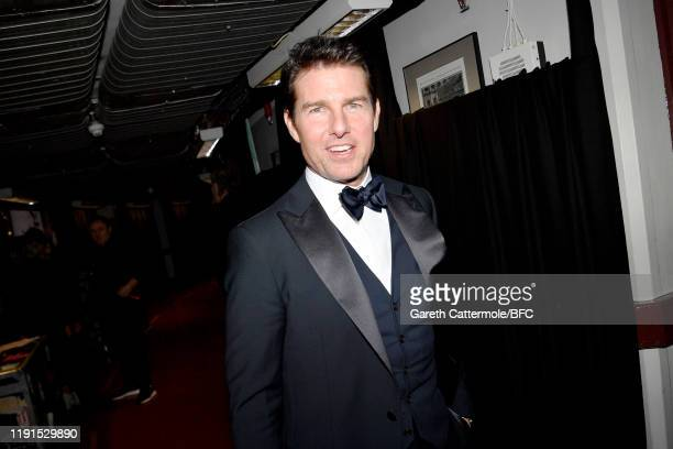 Tom Cruise backstage stage during The Fashion Awards 2019 held at Royal Albert Hall on December 02 2019 in London England