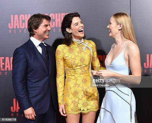 Tom Cruise Cobie Smulders and Danika Yarosh attend the 'Jack Reacher Never Go Back' Fan Screening at AMC Elmwood Palace 20 on October 16 2016 in...