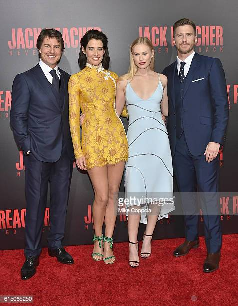 Tom Cruise Cobie Smulders Danika Yarosh and Patrick Heusinger attend the Jack Reacher Never Go Back Fan Screening at AMC Elmwood Palace 20 on October...
