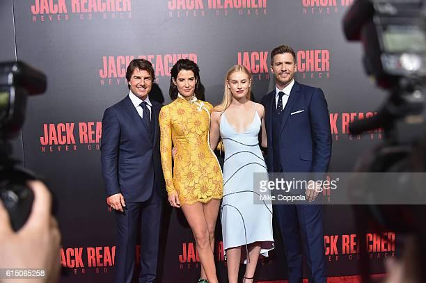 Tom Cruise Cobie Smulders Danika Yarosh and Patrick Heusinger attend the Jack Reacher Never Go Back Fan Screening at AMC Elmwood Palace 20 on October...
