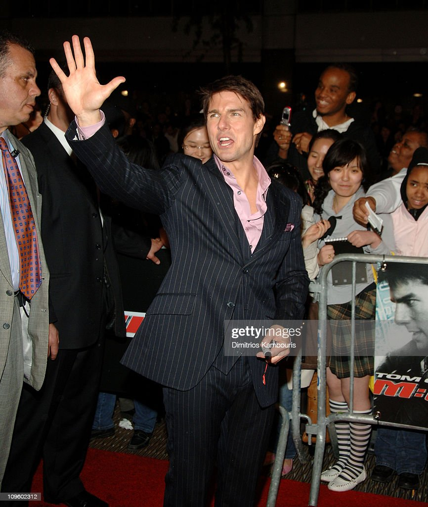 Tom Cruise during 5th Annual Tribeca Film Festival - 'Mission: Impossible III' New York Premiere - Arrivals at Ziegfeld Theater in New York City, New York, United States.