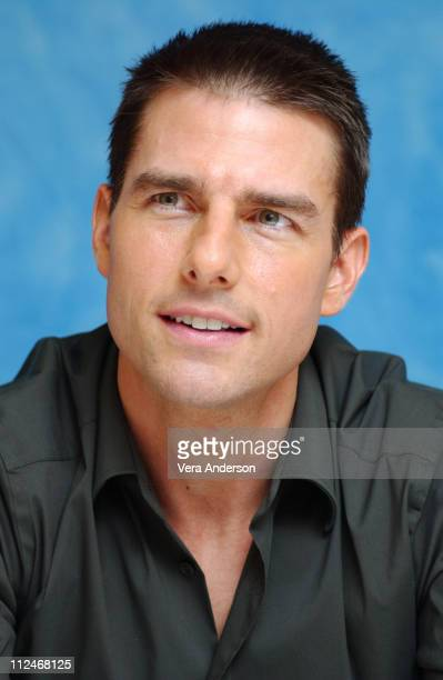 """Tom Cruise during """"Collateral"""" Press Conference with Tom Cruise, Jamie Foxx and Jada Pinkett Smith at St. Regis Hotel in Century City, California,..."""