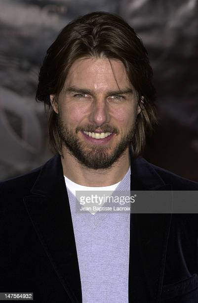 Tom Cruise during 'Minority Report' Photocall in Paris at Espace Pierre Cardin in Paris France