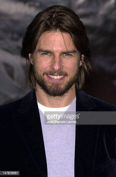 Tom Cruise during 'Minority Report' Premiere Paris at UGC Bercy in Paris France