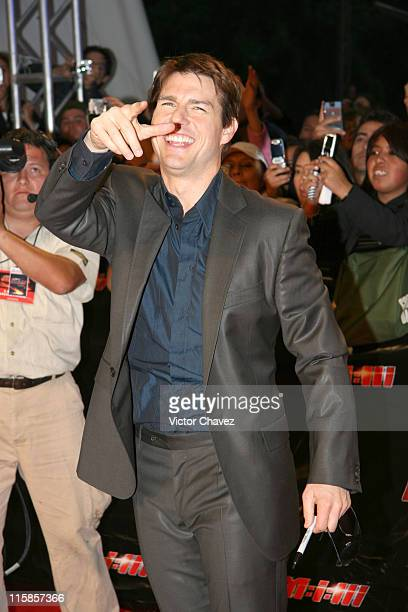 Tom Cruise during Mission Impossible III Mexico City Premiere Outside Arrivals at Auditorio Nacional in Mexico City Mexico