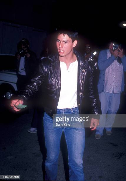 Tom Cruise during Sean Penn Bachelor Party at On The Rox Club in West Hollywood California United States