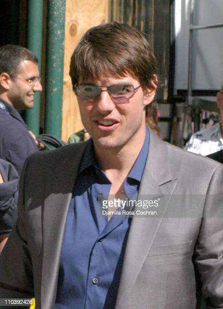 """Tom Cruise during Tom Cruise Visits the """"Late Show with David Letterman"""" - June 23, 2005 at Ed Sullivan Theatre in New York City, New York, United..."""