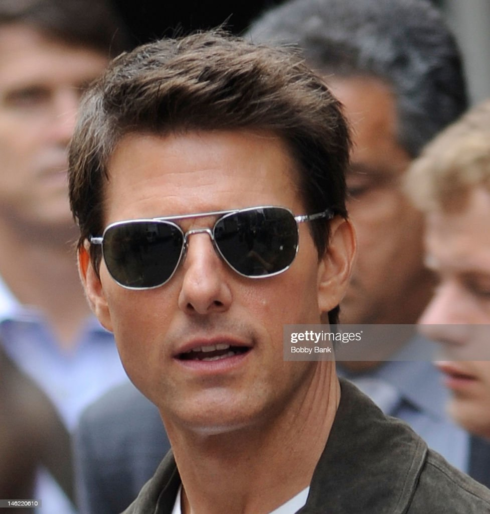 Tom Cruise filming on location for 'Oblivion' on June 12, 2012 in New York City.