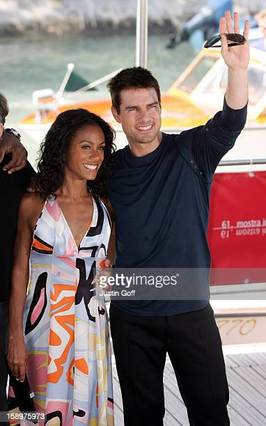 Tom Cruise Jada Pinkett Smith Promote 'Collateral' At The 61St Venice Film Festival