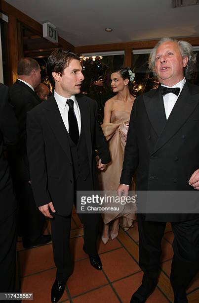 Tom Cruise Katie Holmes and Graydon Carter during 2007 Vanity Fair Oscar Party Hosted by Graydon Carter Inside at Mortons in West Hollywood...