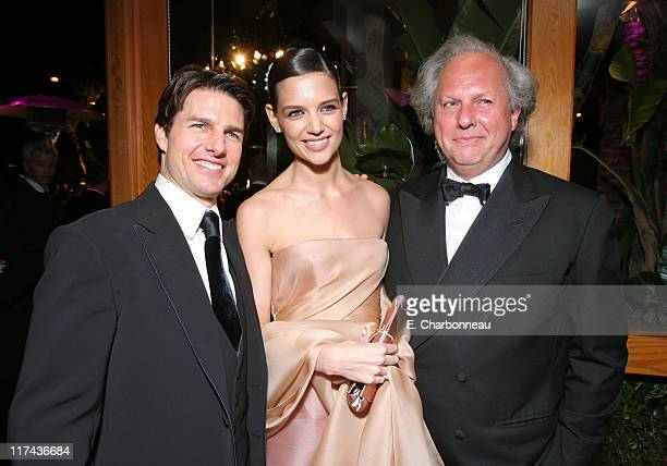 Tom Cruise Katie Holmes and Graydon Carter Editor of Vanity Fair
