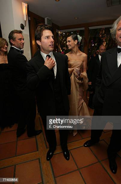 Tom Cruise Katie Holmes and Graydon Carter