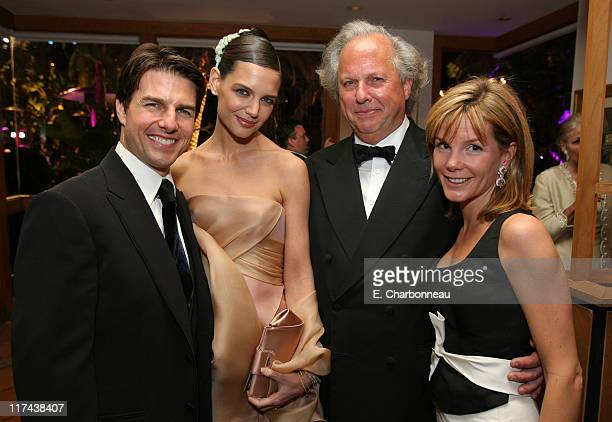 Tom Cruise Katie Holmes Graydon Carter and wife Anna Carter