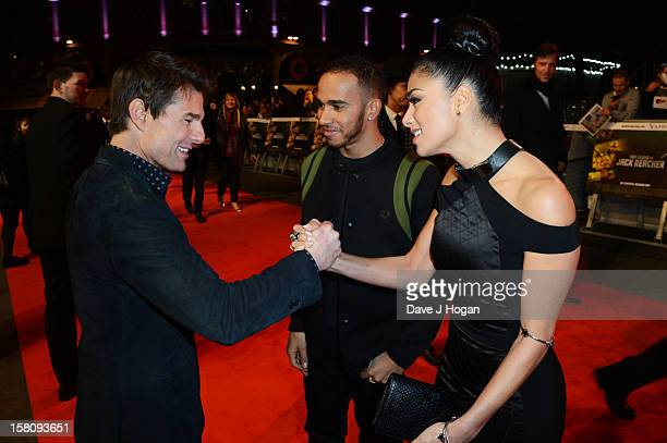 Tom Cruise Nicole Scherzinger and Lewis Hamilton attend the world premiere of 'Jack Reacher' at The Odeon Leicester Square on December 10 2012 in...
