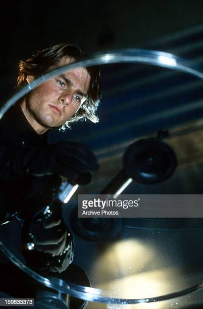 Tom Cruise on a mission in a scene from the film 'Mission Impossible II' 2000