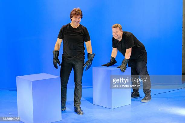 Tom Cruise performs with James Corden during 'The Late Late Show with James Corden' Wednesday October 19 2016 On The CBS Television Network