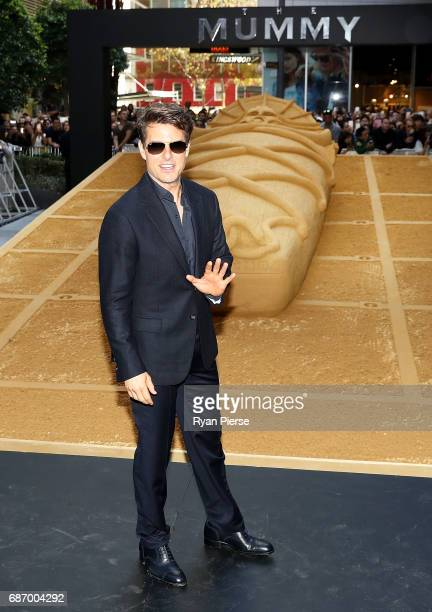 Tom Cruise poses during a photo call for The Mummy at World Square on May 23 2017 in Sydney Australia