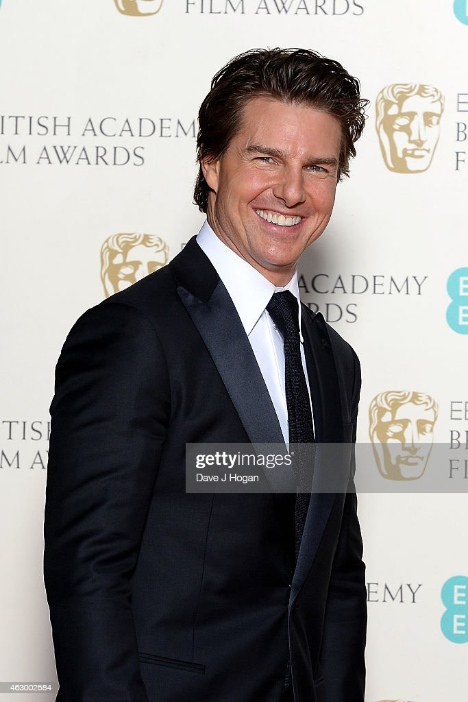 Tom Cruise poses in the winners room at the EE British Academy Film Awards at The Royal Opera House on February 8, 2015 in London, England.