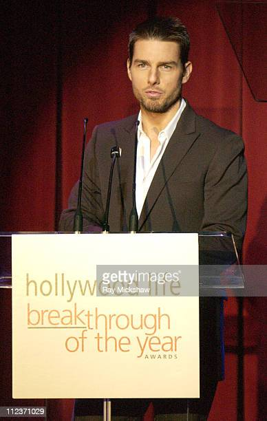Tom Cruise presenting the Breakthrough of the Year Award to Ken Watanabe for 'The Last Samurai'