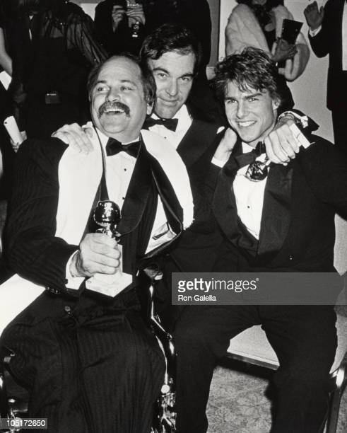 Tom Cruise Ron Kovic and Oliver Stone during The 47th Annual Golden Globe Awards at The Beverly Hilton Hotel in Beverly Hills California United States