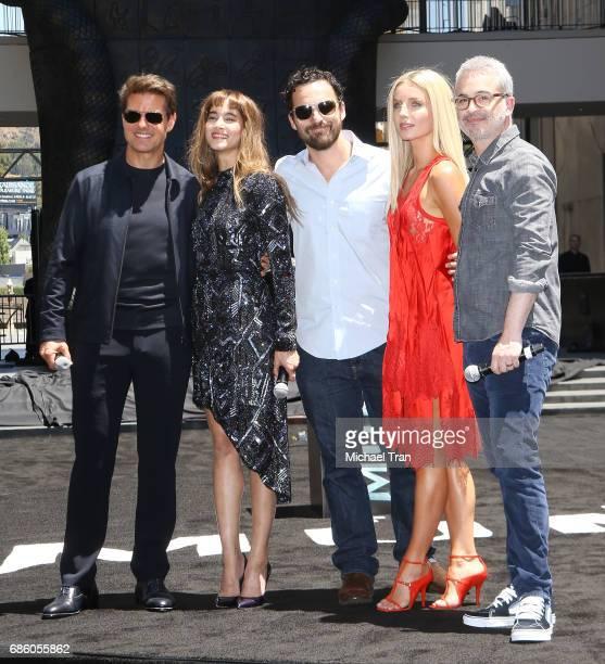 "Tom Cruise, Sofia Boutella, Jake Johnson, Annabelle Wallis and Alex Kurtzman attend Universal celebrates ""The Mummy Day"" with 75-Foot sarcophagus..."