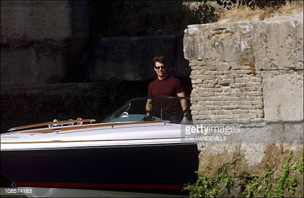 Tom Cruise started shooting scenes for 'Mission Impossible 3' in Rome on Tuesday by whizzing past the camera in a speedboat on the Tiber river near...
