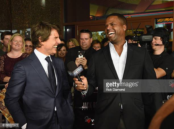 Tom Cruise talks with EXTRA's AJ Calloway during 'Jack Reacher Never Go Back' Variety The Children's Charity Of Eastern Tennessee Benefit Screeningon...