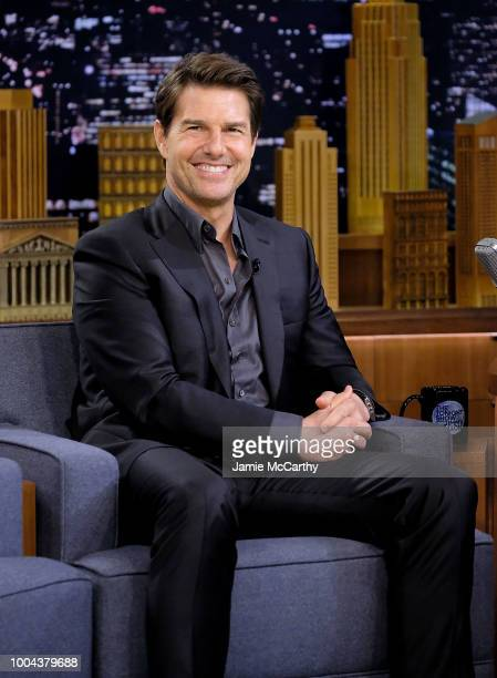 Tom Cruise visits The Tonight Show Starring Jimmy Fallon at Rockefeller Center on July 23 2018 in New York City
