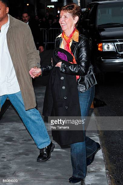 Tom Cruise's mother Mary Lee Pfeiffer visits the 'Late Show with David Letterman' at the Ed Sullivan Theater on December 16 2008 in New York City