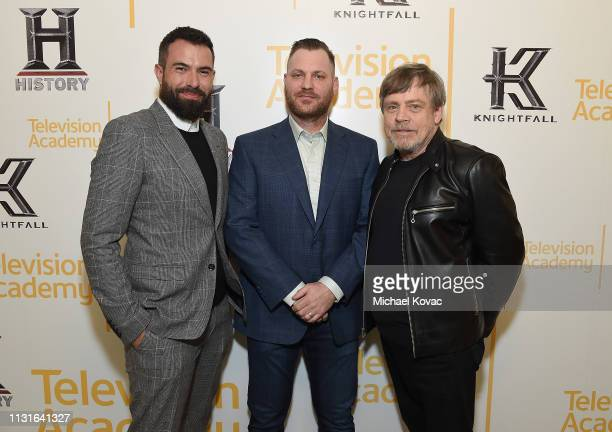 Tom Cullen Aaron Helbing and Mark Hamill attend the Knightfall For Your Consideration Event in Los Angeles on March 19 2019 in Los Angeles California
