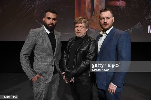 Tom Cullen Mark Hamill and Aaron Helbing attend the Knightfall For Your Consideration Event in Los Angeles on March 19 2019 in Los Angeles California