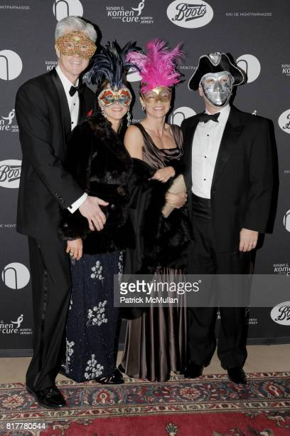 Tom Curnin Brenda Curnin Erica Brenan and Shawn Brenan attend VIP MASKED BALL for Susan G Komen Headlined by Sir Richard Branson Katie Couric...