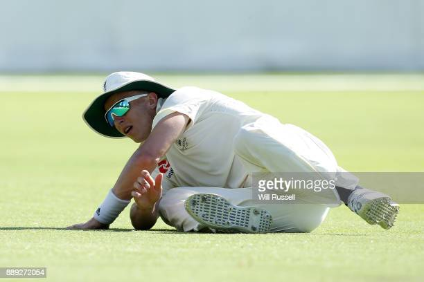 Tom Curran of England fields during the Two Day tour match between the Cricket Australia CA XI and England at Richardson Park on December 10 2017 in...