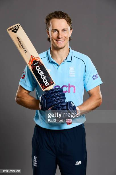 Tom Curran of England poses during a portrait session at Sophia Gardens on June 20, 2021 in Cardiff, Wales.
