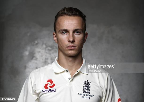 Tom Curran of England poses during the 2017/18 England Ashes Squad portrait session at the Adelaide Oval on November 11 2017 in Adelaide Australia