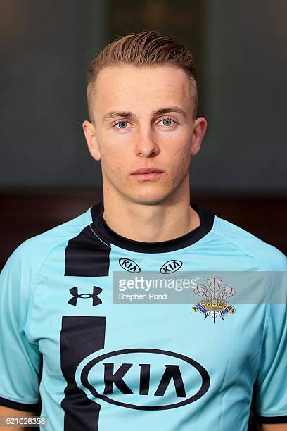 Tom Curran of Surrey during the Surrey County Cricket Club media day at The Kia Oval on April 6 2016 in London England