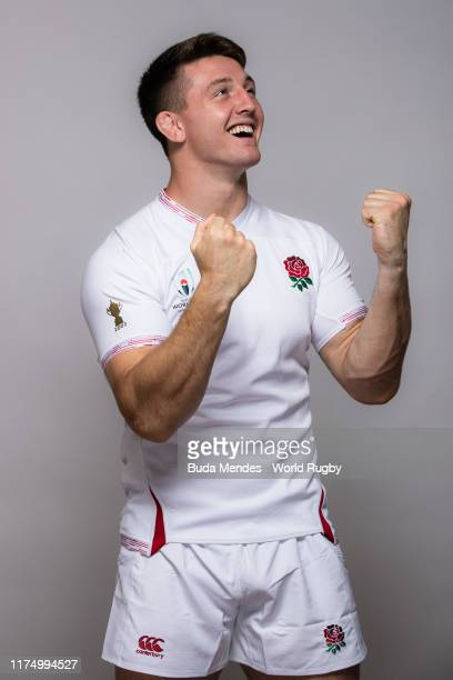 Tom Curry of England poses for a portrait during the England Rugby World Cup 2019 squad photo call on September 15 2019 in Miyazaki Japan