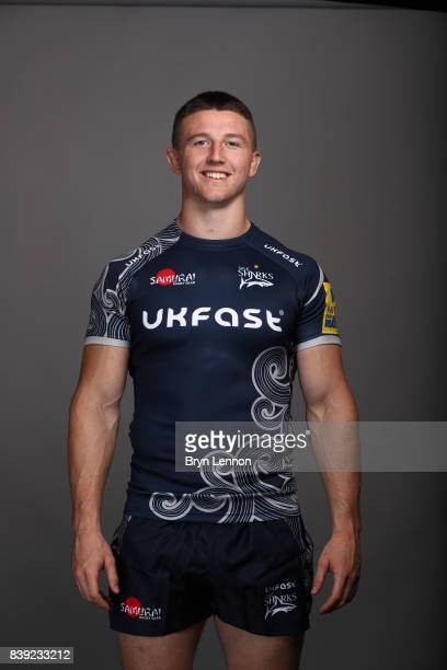 Tom Curry of Sale Sharks poses during a photocall on August 23 2017 in Sale England