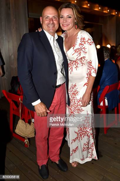Tom DÕAgostino Jr and Luann D'Agostino attend Janna Bullock Celebrates an Endless Summer at Private Residence on July 23 2017 in Southampton New York